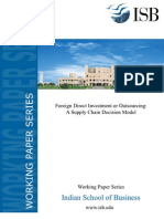 Foreign Direct Investment or Outsourcing