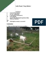 Cattle Panel Shelter