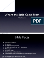 Where the Bible Came From