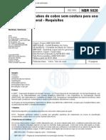 NBR 05020 - 2003 - Tubos de Cobre Sem Costura Para Uso Geral