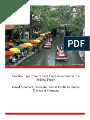 Fed Prison Guidebook | Federal Bureau Of Prisons | Insanity