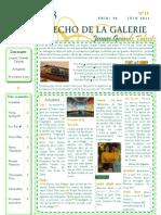 ECHO DE LA GALERIE N° 18
