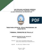 FAUA-UPAO Memoria Tesis TERMINAL TERRESTRE TRUJILLO_1era Parte. Bach Arq A.Quispe y S.Taba