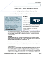 How Cisco Uses IPTV to Deliver Certification Training