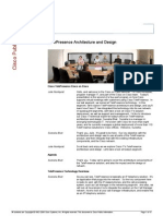 TelePresence Architecture and Design
