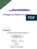 Compostos de Coordenação 1