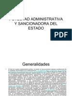 Potestad Administrativa y Sancionadora Del Estado