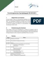 Information En Zum Seminar WS 2010-2011