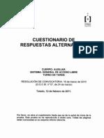 Examen Auxliares Cuerpo Auxiliar Junta Comunidades Castilla La Mancha 02 2011 Turno Tarde