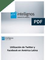 Informe utilización Twitter Facebook