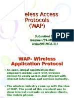 Wireless Access Protocols