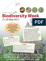 Edinburgh Biodiversity Week 2011 Poster
