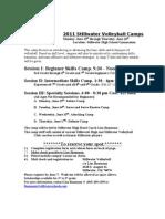 Stillwater Volleyball Camp 2011