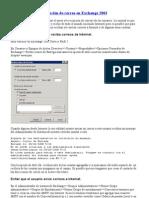 Limitar el envío y recepción de correo en Exchange 2003