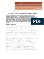 History of the Pre Sentence Investigation Report