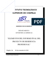 Elementos Del Informe Final de Rp
