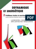 Thermodynamique et énergétique- Problèmes résolus et exercices- Volume 2 Par Lucien Borel-Daniel Favrat-Dinh Lan Nguyen-Magdi Batato