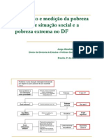 Dimensão e medição da pobreza extrema e situação social e a pobreza extrema no DF