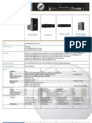 Dell OptiPlex 745 Technical Specifications | Digital Electronics
