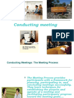 Conducting Meetings ..m