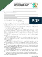 Ficha de Avaliação - Texto Narrativo 1
