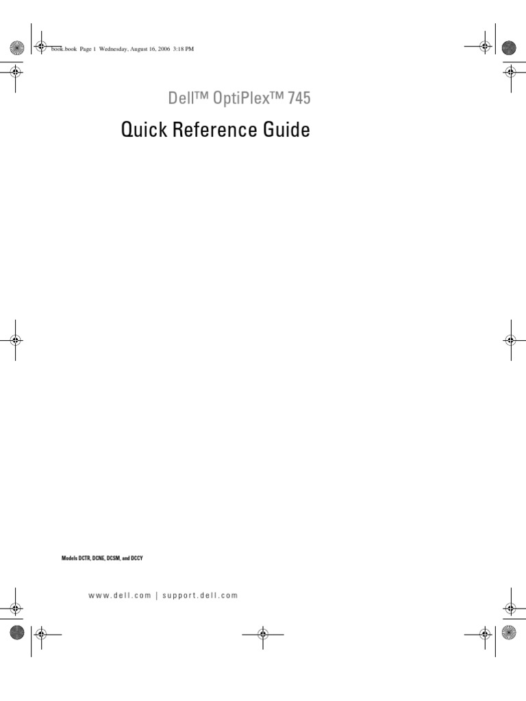 dell optiplex 745 quick reference guide electrical connector rh scribd com Submersible Well Pump Installation Installation Manual