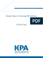 KPA Simple Steps to Selecting HR Software White Paper[1]