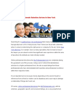 Improved Professionals Selection in New York
