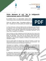 """Units demana el vot """"de la indignació valencianista amb el PP-PSOE"""""""