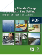 Addressing Climate Change in the Health Care Setting