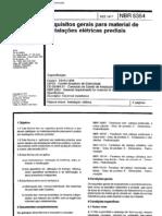 NBR 05354 - 1977 - Requisitos para Instalações Elétricas Prediais