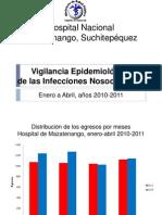 Enero a Abril 2010-2011 Nosocomiales
