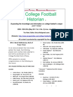 IFRA College Football Historian, May 2011, Vol. 4 No. 4
