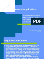 Government Applications Completing Key Selection Criteria
