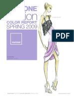 Pantone Fashion Color Report Spring 2009