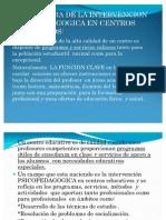 Estructura de La Intervencion Psicopedagogica en Centros Educativos