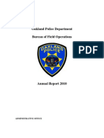OPD Bureau of Field Operations 2010 Annual Report