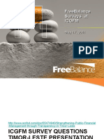 Free Balance Surveys at ICGFM