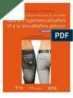 rapport.recherche.texte face à l'hypersexualisation et à la sexualisation précoce