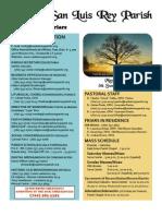Bulletin for 5-20-2011