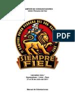 Programa General II CAMPOREE Conquistadores 2011 Siempre Fiel UPS