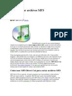 Manual Cómo cortar archivos MP3 (MP3 Direct Cut)
