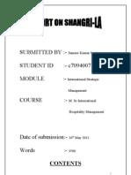 Report on Shangri-la (3500)