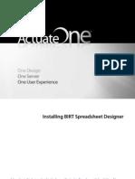 Installing Spreadsheet Designer