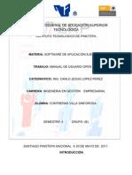 Manual de Usuario de Open-erp