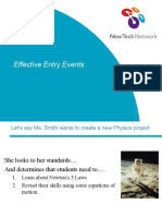 Creating Effective Entry Events
