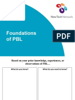 Foundations of PBL - Project Overview Workshop