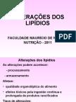 Alterações dos lipídios