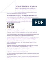 Metodologias de La Seleccion Tecnologica Educativa 1