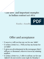 Case Laws in Indian Contract Act 1872